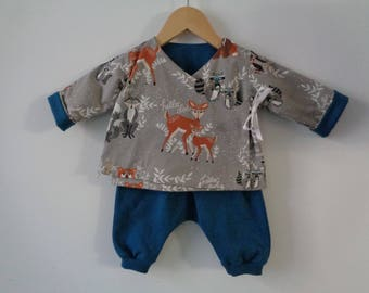 All reversible kimono jacket / pants - 12 months