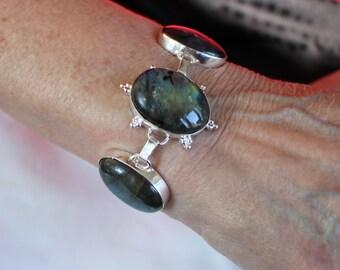 Blue Fire Labradorite Bracelet-8 inches!
