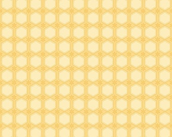 Sew Bee It - 6643-44 - Honeycomb - Yellow by Shelly Comiskey of Simply Shelly Designs for Henry Glass