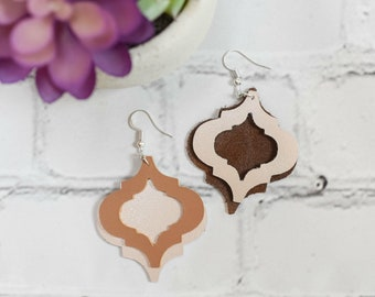 Moroccan Inspired Leather Earrings