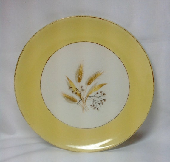 & Vintage Semi Vitreous Dinnerware Autumn Gold Yellow Wheat Gold