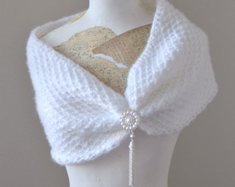 Tunisian Crochet Wedding Wrap Pattern, Bridal Tunisian Cowl pattern Womens Bridal Tunisian Crochet Pattern, Wedding Day Wrap Pattern, Bride