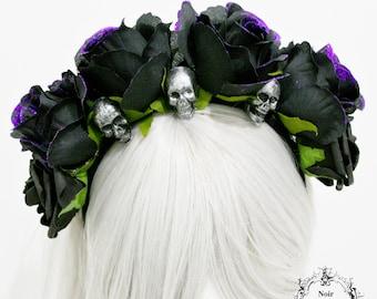 Tag der Toten Blume Stirnband-gotischen Blume Kopfstück-Kopfstück-Blume Stirnband-Kopfstück mit Schädel-Ready zu versenden