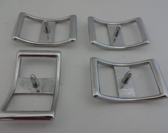Set of 4 Stainless Steel Conway Buckles Horse Tack Belts Reins Tie Downs Hardware