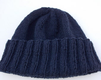 Mens Watch Cap - Navy - Convertible Collection - Watch Cap - Wool - READY TO SHIP!