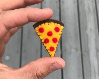 Pepperoni pizza slice pin