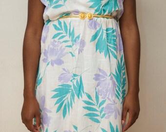 Vintage Floral Dress,Vintage dress, floral, summer dress