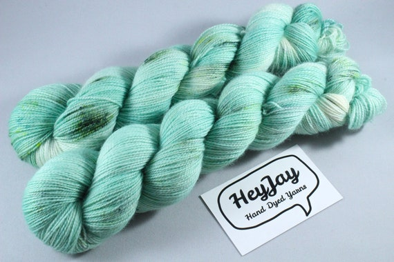 Hand Dyed Ultimate Sock Yarn, BFL High Twist - Green Tea