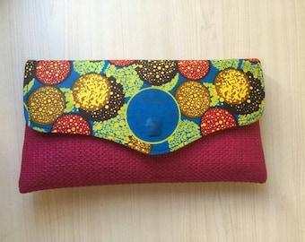Clutch  African Jute clutch purse  African Purse  African Print bag  Evening clutch  Handmade wallet  Ladies pouch  Fabric purse  Gifts idea