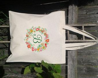Bridesmaid Tote Bag, Monogram Tote Bag, Personalized Bridesmaid Gift Bag, Bridal Party Gift Tote, Canvas Tote Bag
