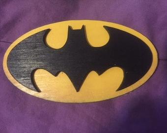 Wooden Batman Magnet
