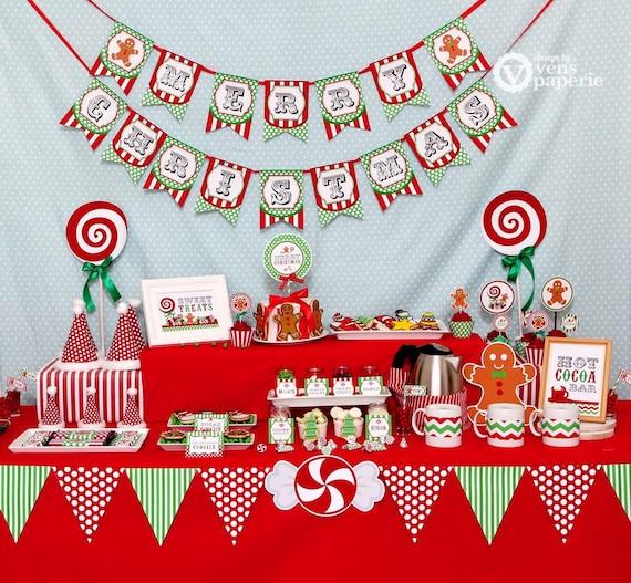 christmas sweet shoppe holiday party diy printable