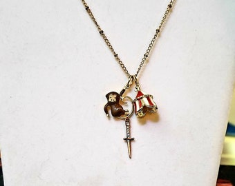 Charm Necklace: Bad Monkey with Dagger Freak Circus