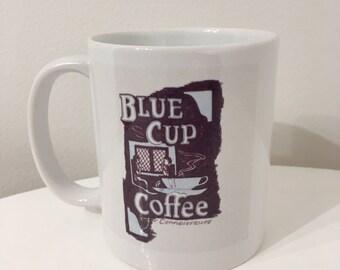 Blue Cup Coffee & Heavy Cream Mug