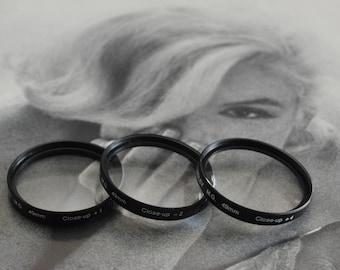 Vintage ROLEV M.G. 49mm Close-Up filter set for camera