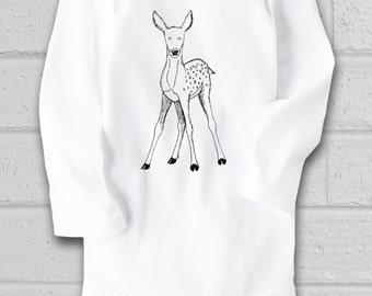Deer baby shower, Deer bodysuit, Deer Baby Clothes, Cute Baby bodysuit, Unique Baby clothes, Woodland Baby, Animal Baby Clothes