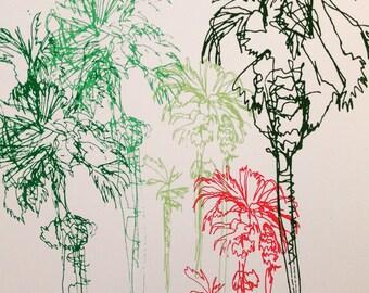 Palm Trees Screenprint
