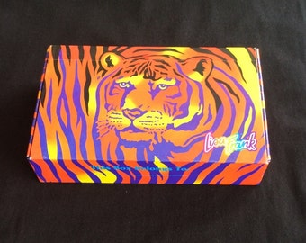 Lisa Frank Camo Tiger Sticker /Pencil box.