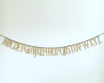 Ply Wooden Alphabet Bunting