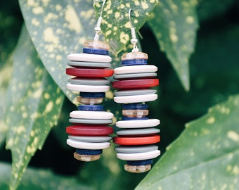 Handmade Earrings with Buttons