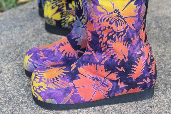 Boots Moccasin Viva In Colorful Indonesian Vegan Womens Batik 17CqfTwTx