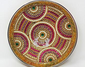 Traditional designer taali/talabulam plate/trays for Bharatnatyam, Kuchipudi, Parties, Engagement, Weddings, Birthdays, puja, havan