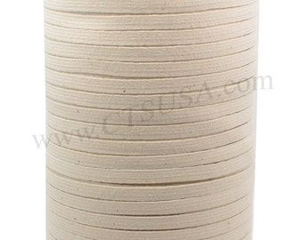 """1/4"""" Natural Cotton Braided Elastic 288 yds Roll"""