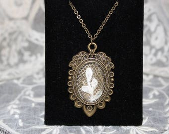 Antique handmade lace necklace