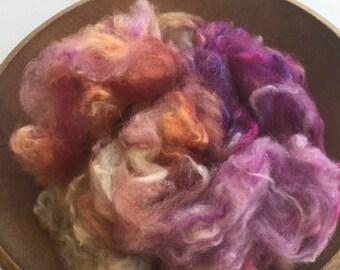 Alpaca Cloud, Kettle Dyed Huacaya Alpaca, 2oz, Lace and Bordeaux, HA204