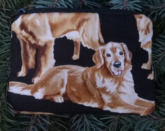 Golden Retrievers coin purse, gift card pouch, credit card pouch, The Raven