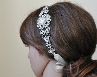 Bridal Headband, Vintage Headpiece, MAKAYLA, Wedding headband, bridal headpiece