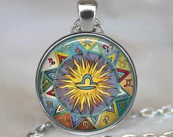 Libra Bohemian Zodiac necklace, Boho Libra pendant Zodiac jewelry Zodiac pendant astrology jewelry astrology necklace key chain key fob