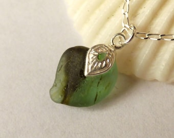 Sea Glass Pendant, End of Day, Multi Seaglass, Seaglass Necklace, Seaglass Jewellery, Seaham Beachglass, Green Jewelry, Gift for Her P180028