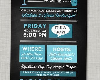Coed baby shower etsy couples baby shower invite chalkboard baby shower invitation wine baby shower invitation unique baby shower invitation coed baby shower filmwisefo