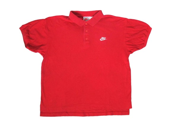 Nike Red Embroidered Polo Shirt