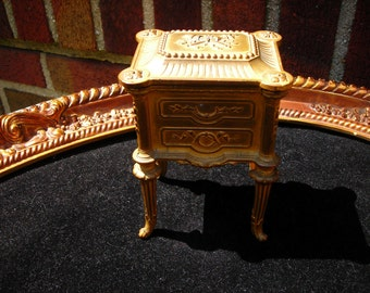 antique french casket box jewelery depose france