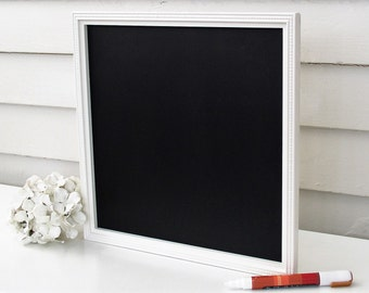 Large Desktop Chalkboard 14 x 14 YOU CHOOSE COLOR Handmade Frame + Chalk Marker for To Do List, Quotes, Inspiration, Table Top Menu Buffet