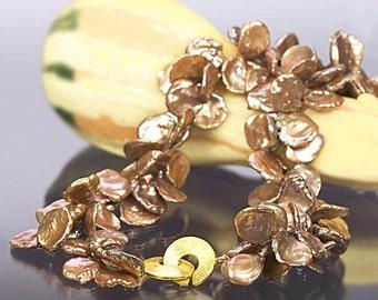 Brown Keshi Necklace