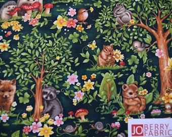 Forest Babies by Oasis Fabrics. JoBerry Fabrics, Fabric by the Yard.