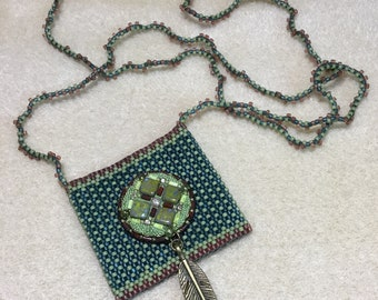 Beaded Amulet Pouch