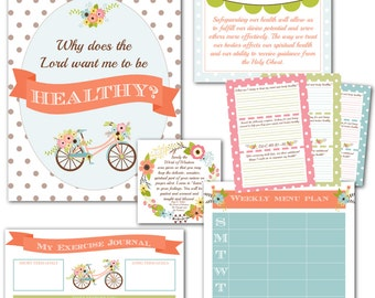 "LDS YW Come Follow Me - November - ""Why does the Lord want me to be healthy?"" - Printable Lesson Helps - MB"