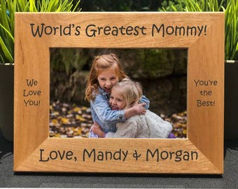 World's Greatest Mommy // Personalized Engraved Photo Frame // Mother // Mom // Madre //  La mamá más grande del mundo // Gift
