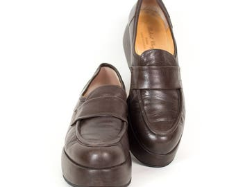 Moccasins Robert Clergerie chocolate brown leather, vintage, 38 FR 6.5 US, 5 UK