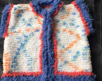 Knitted sleeveless vest / handmade / knitted vest / hand made