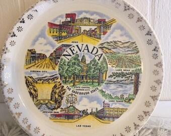 Vintage Nevada Souvenir Plate