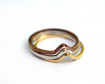 SILVER ONLY - stacking rings size 7 (2)