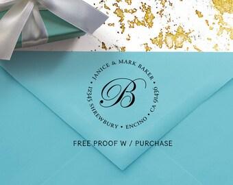 Return Address Stamp,  Round Address Stamp, Personalized Address Stamp, Self ink Address Stamp, Custom Return Address Stamp, Wedding  20304
