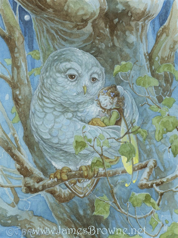 Luna the Huggable Owl 8.5x11 Print with special gift