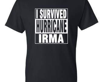 I Survived Hurricane IRMA Adult, Youth, Toddler, and Infant tshirts