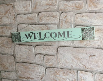 """Decorative Wooden Sign """"welcome"""""""